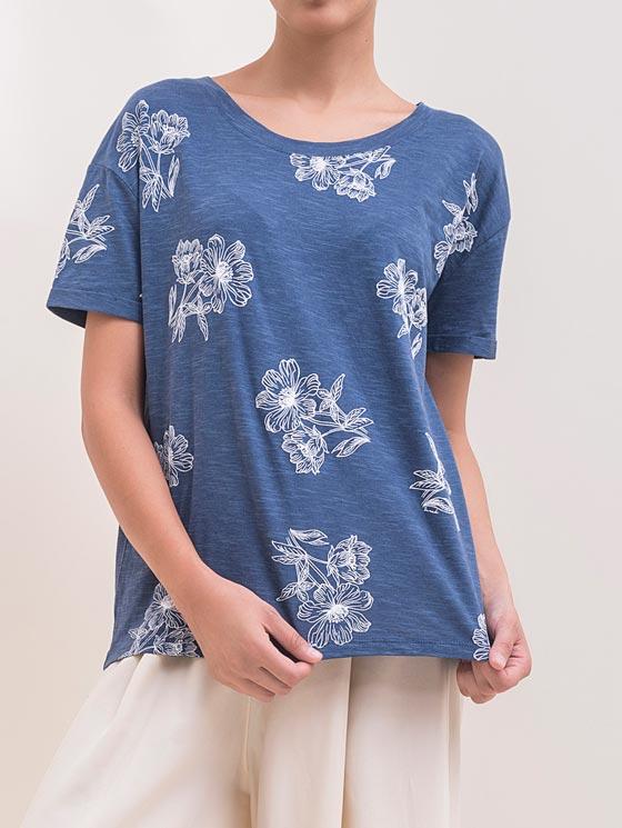 تی شرت تمام چاپ گل
