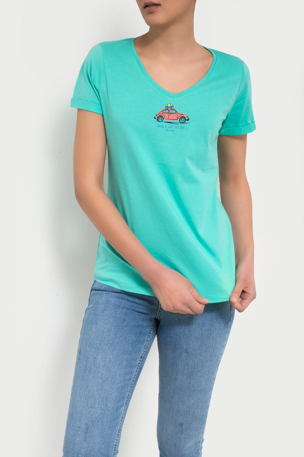 تی شرت یقه هفت چاپ فولکس