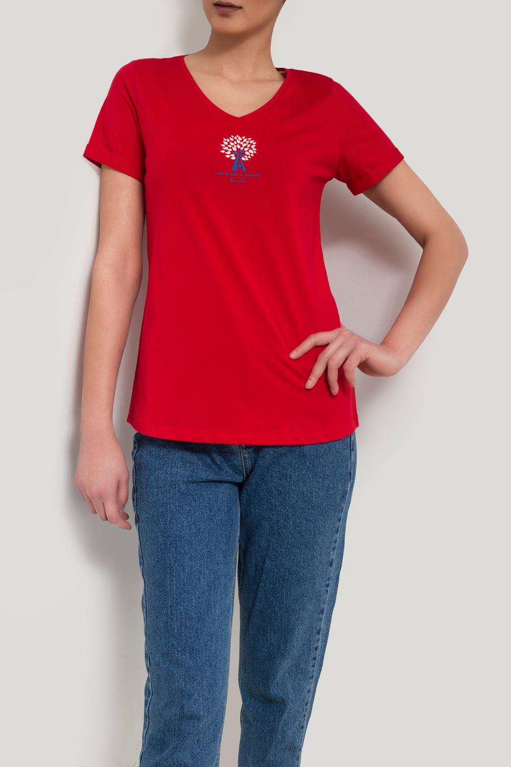 تی شرت یقه هفت چاپ درخت