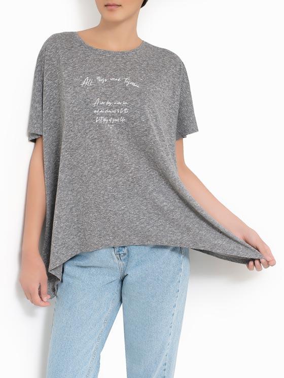 تی شرت یقه گرد چاپ فونت
