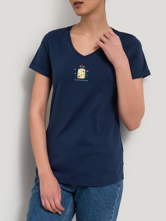 تی شرت یقه هفت چاپ بطری