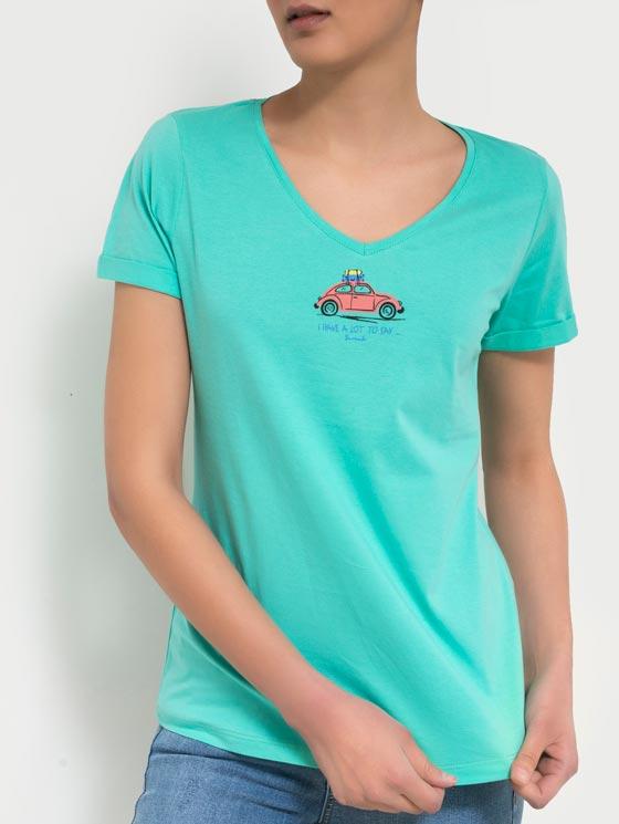 تی شرت یقه هفت چاپی