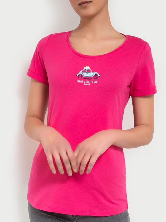 تی شرت یقه گرد چاپی